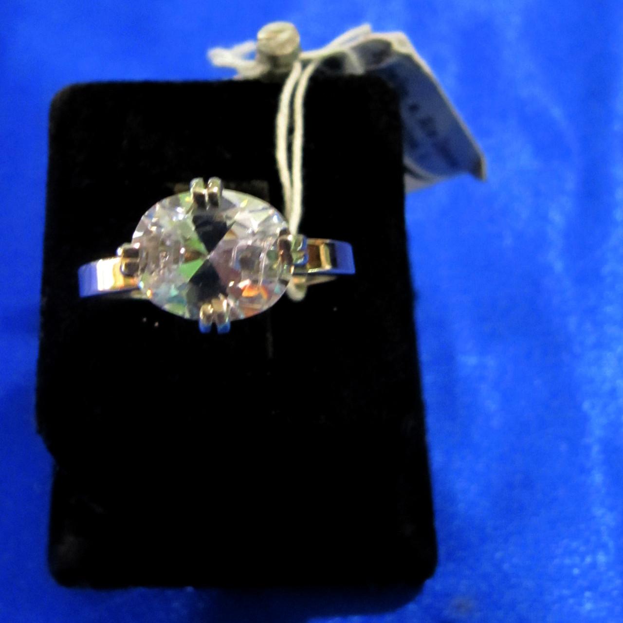 Срібна каблучка жіноча з фіанітами і золотими напайками  продажа ... bbba5b0f69da6