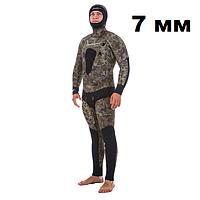 Осенний гидрокостюм для подводной охоты Marlin Skilur Green 2.0; толщина 7 мм
