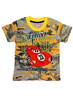 Модная детская футболка камуфляж( от 2 до 5 лет)
