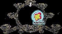 """Кованая подставка для цветов """"КАРЕТА большая 8"""""""