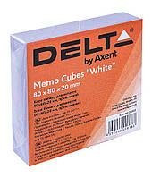 Папір для нотаток 80*80*20мм білий проклеєний D8002 Delta