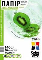 Фотопапір ColorWay матовий двосторонній 140 г/м², A4, 50 арк.