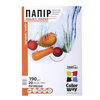 Фотопапір ColorWay матовий 190 г/м², A4, 20 арк.