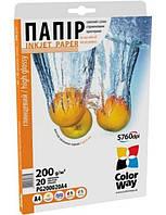 Фотопапір ColorWay глянцевий 200 г/м², A4, 20 ар.