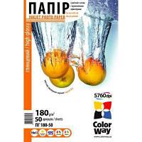 Фотопапір ColorWay глянцевий 180 г/м², A6, 50 арк.