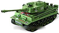 Танк на радиоуправлении прототип танка Тигр масштаб 1:20 стреляет пульками, YH4101B-1/2 (зеленый)