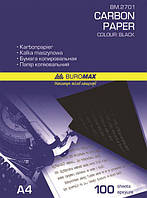 Копіювальний папір А4 100арк. Buromax  чорний