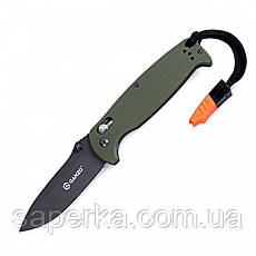 Нож туристический Ganzo (оранжевый, черный, зеленый) G7413-BK-WS, фото 3