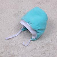 """Теплая велюровая шапка """"Coоl"""" (бирюза)"""