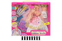 Кукла 904 30см, платье-раскраска, фломастеры выдувные, расческа, в коробке, 35-33-6см