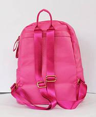Рюкзак шкільний та міський зі штучної шкіри малиновий, чорний., фото 3