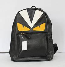 Рюкзак школьный и городской из искусственной кожи малиновый, чёрный., фото 2