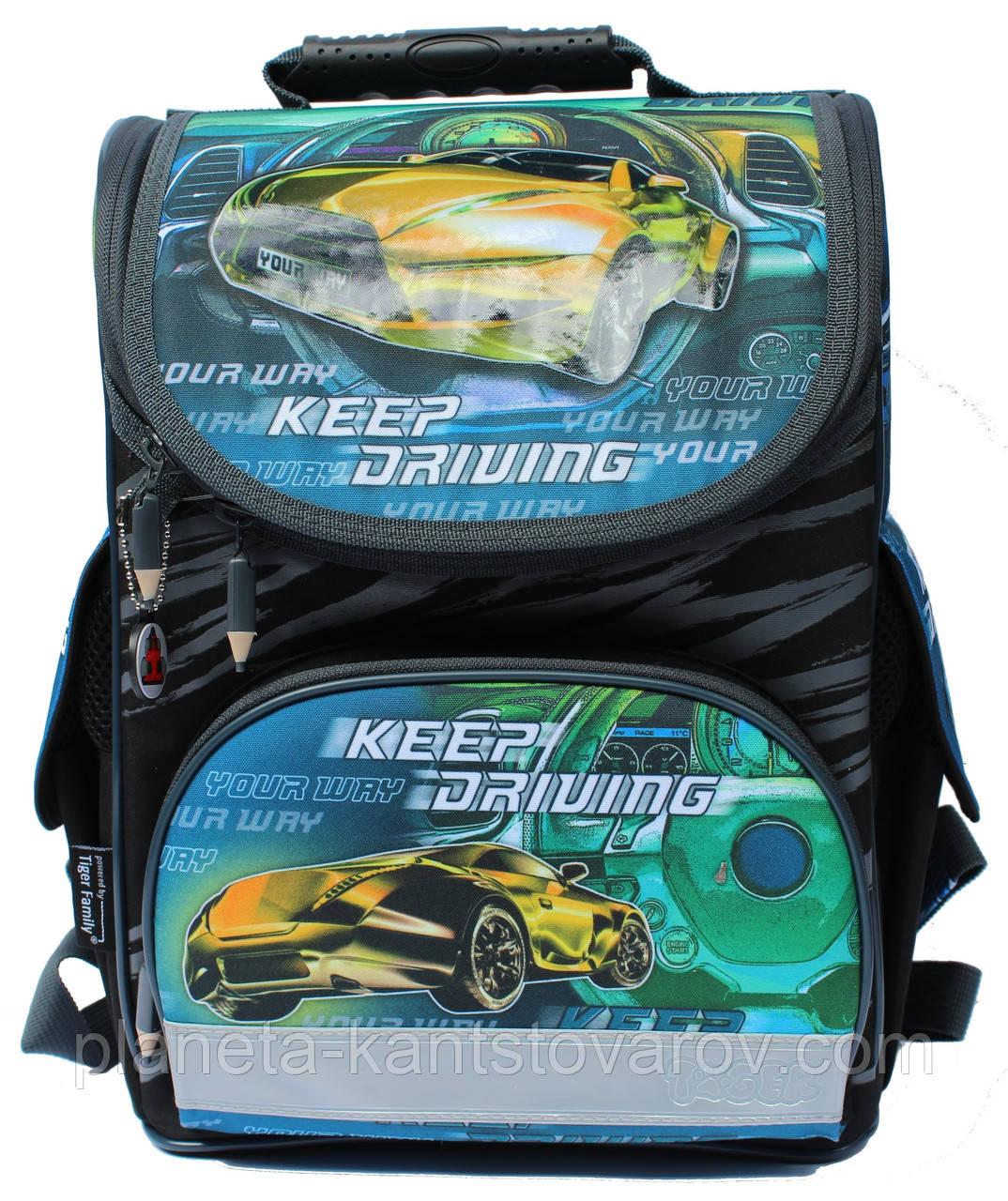 "Ранец ""TIGER"" 2017 №1728R ""Race car"""