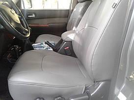 Чехлы на сиденья Nissan Patrol (Y61) Комбинированные авточехлы экокожа