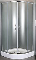 Volle 10-22-157glass FIESTA душевая кабина 90*90*185 см (стекла+двери), хром, прозрачное, без поддона