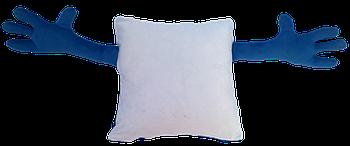 Подушка для объятий, квадрат, под сублимацию, СИНИЙ