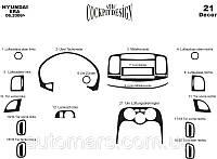 Декоративные накладки на панель Hyundai Accent 2006+