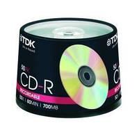 Диск CD-R TDK 700MB 52x Cake 50