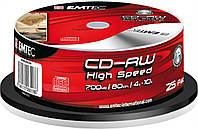 Диск CD-RW Emtec 700Mb cake 25