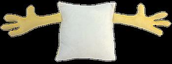 Подушка для объятий, квадрат, под сублимацию, ПЕРСИКОВЫЙ