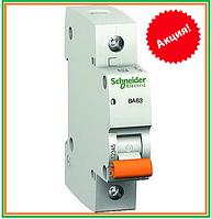 Автомат  Schneider Electric Домовой  ВА63 1п  16 А С Автоматический выключатель однополюсный 1Р