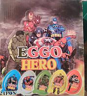 Пластиковое шоколадное яйцо King Egg Герои 15 г. 24 шт.