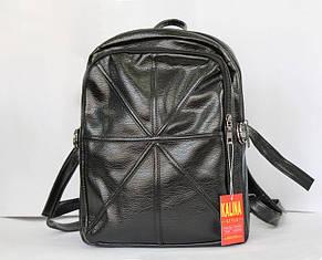 Модный рюкзак школьный и городской из искусственной кожи чёрный., фото 2