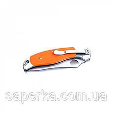 Нож универсальный Ganzo (черный, оранжевый) G7372-BK, фото 2