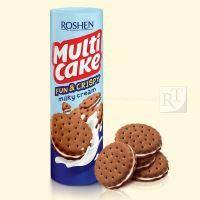 Печиво РОШЕН мульти-кейк  крекер fun&crispy молочно-кремовий 135г\35