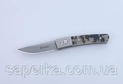 Ніж кишеньковий Ganzo (чорний, зелений, камуфляж) G7362-BK, фото 2