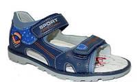 Кожаные сандалии для мальчиков на липучках с открытым носком.  В наличии 31,32,33,34,35р.