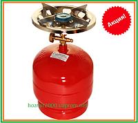 Горелка газовая с баллоном  2,5 л  Rudyy RK-1 Туристический 2,5 кВт горелка для рыбаков туристов