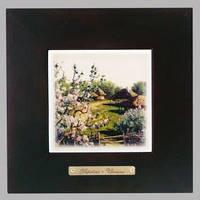 """Панно настінне """"Яблуневий цвіт"""" 10х10 (18х18) см"""