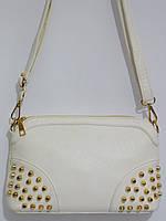 Женский клатч с шипами белый, фото 1