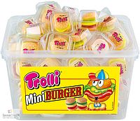 Жевательный мармелад Trolli Mini Burger 60шт, 600 грамм