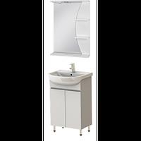 Комплект MONIKA тумба М1-50 белая + зеркало Рио31-50