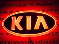 Эмблема киа, светящаяся задняя эмблема KIA 4D