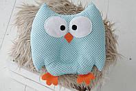 Детская подушка для сна Голубая Совка