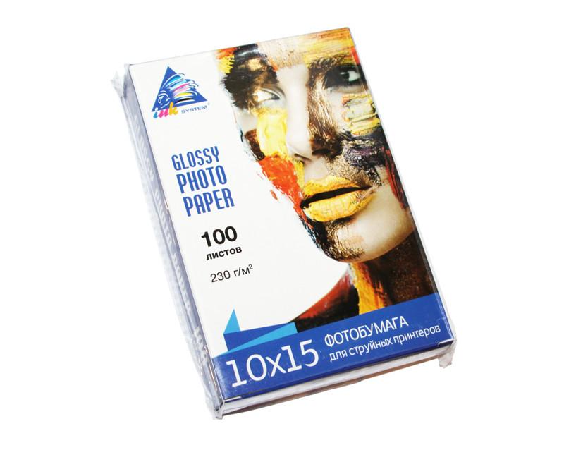 Фотобумага Ink System, глянцевая, A6 (10х15), 230 г/м2, 100 л