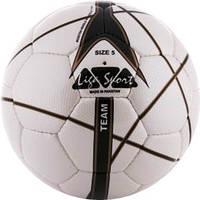 Мяч футбольный Liga Sport бело-черный