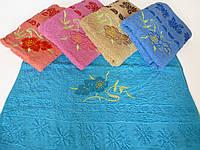 Махровое лицевое полотенце 95х50см (барвинок)