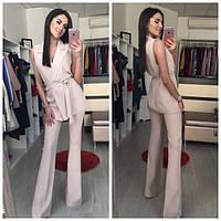 Женский стильный костюм: жилет и брюки клеш в расцветках. ОС-4-0617