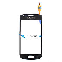 Тачскрин для Samsung S7562 Galaxy S Duos, S7560 Galaxy Trend, черный big ic(6mm)/small ic(5mm)