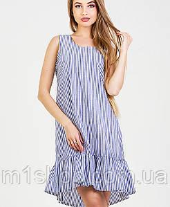 Полосатое платье без рукавов (Нино leo)