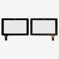 """Сенсорный экран для планшетов China-Tablet PC 7""""; Ainol Novo 7 Crystal, Novo 7 Elf, 7"""", 30 pin, емкостный, черный, (186*117 мм), #HOTATOUCH"""