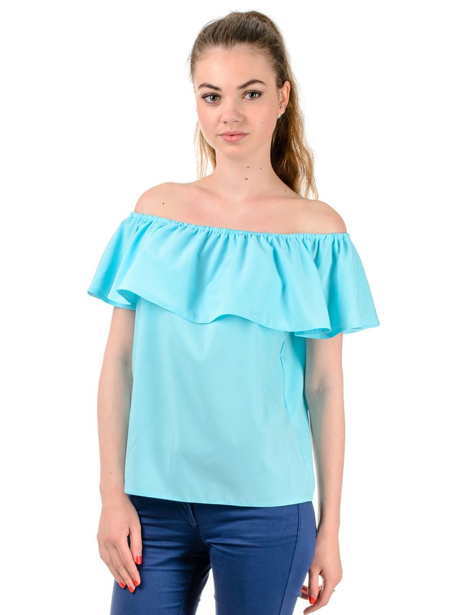 Женская летняя блуза с рюшами TR302