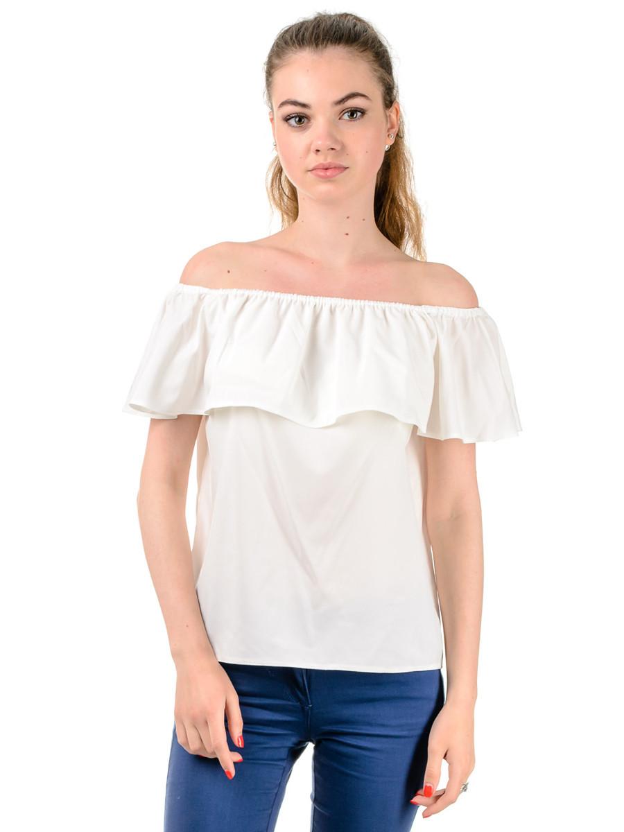 Женская летняя блуза с рюшами TR303