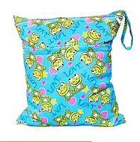 Удобные сумочки для сухих и мокрых вещей c двумя отделениями лягушатки