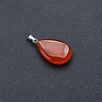 Кулон капля камень   Сердолик 2,5*1,8см