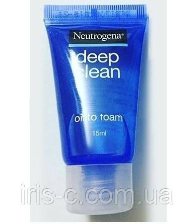 Гидрофильное масло Neutrogena Deep Clean Cleansing Oil to Foam 15мл